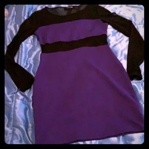 Purple and black cocktail dress